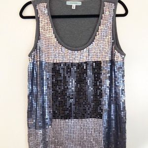 Pleione Sleeveless Sequence Top Size Med